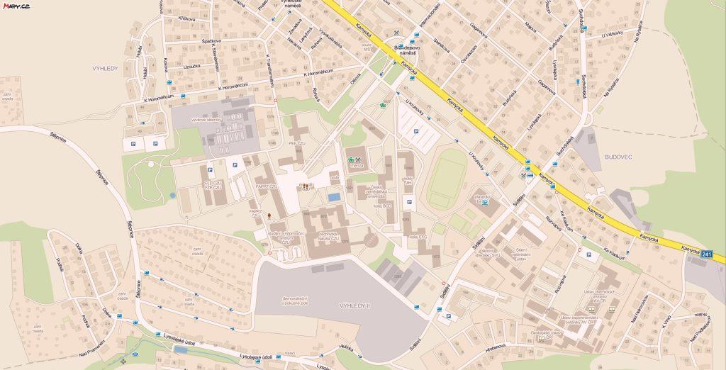 Mapa areálu ČZU