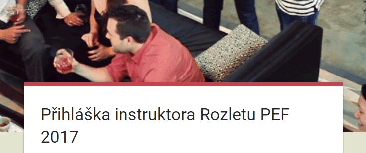Rozlet přihláška instruktora