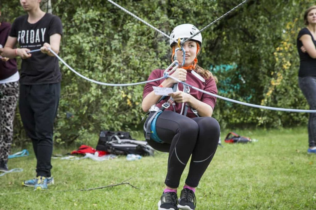 Účastnice na laně - Rozlet