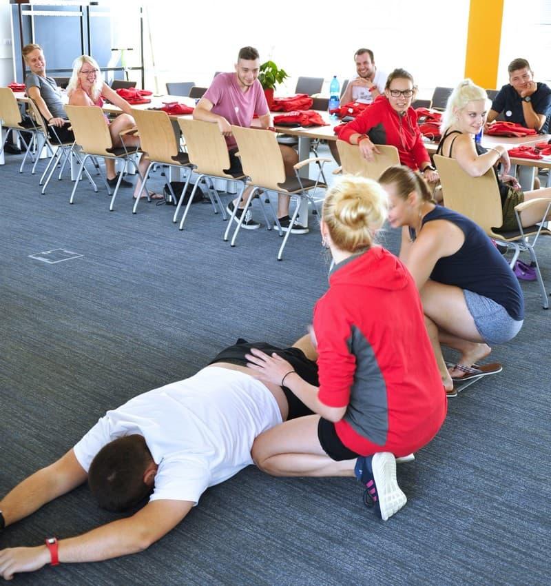 Školení první pomoci. Foto: Naďa Firsová
